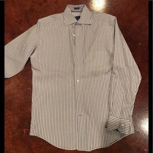 Men's Warehouse button up dress shirt. Size Medium